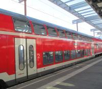 double decker train to Oktoberfest