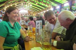 with her German husband and father-in-law