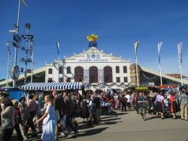 a bright sunny day at Oktoberfest