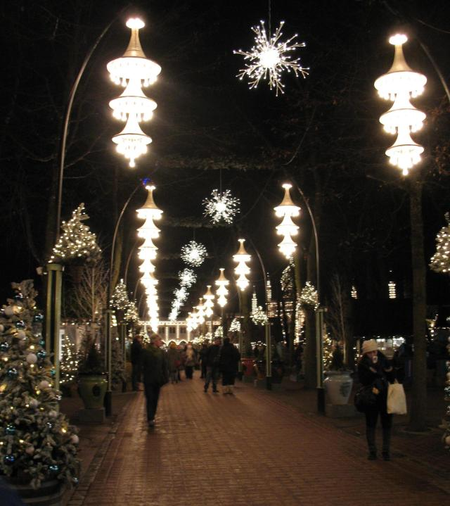 winter wonderland entrance to Copenhagen's Tivoli Gardens