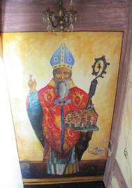 St Blaise, Dubrovnik patron saint, in Libertas' hallway
