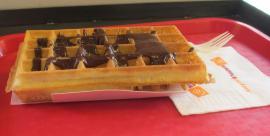 Belgian waffle with chocolate