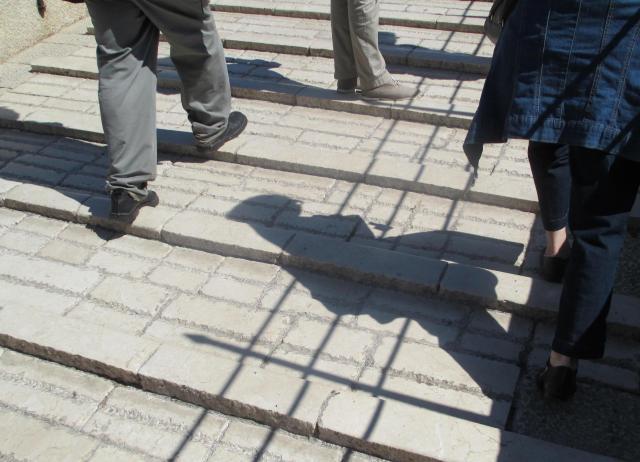 rugged footing on Mostar's bridge