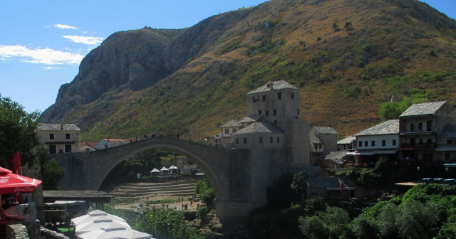 Mostar bridge seen from the north