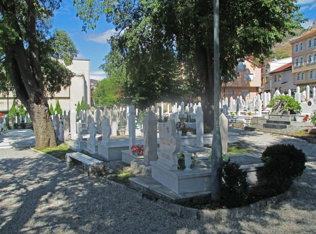 The new cemetery in Mostar's Old Town