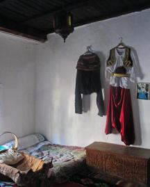 Turkish house bedroom and clothing