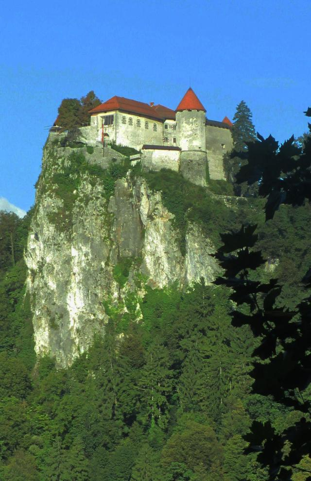 Bled Castle on the rocks
