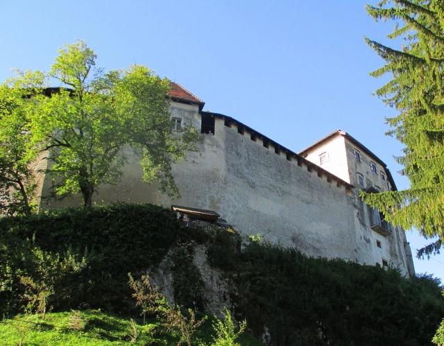 Still climbing towards the castle