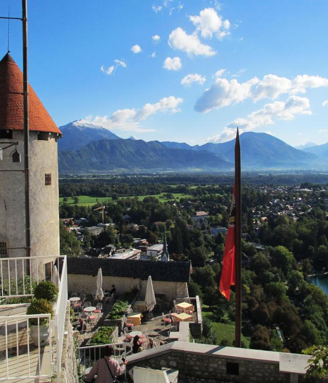 Valley view from Bled Castle