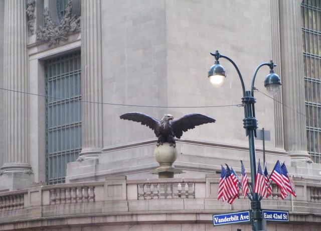 a Grand Central eagle