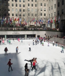 spring at the ice rink