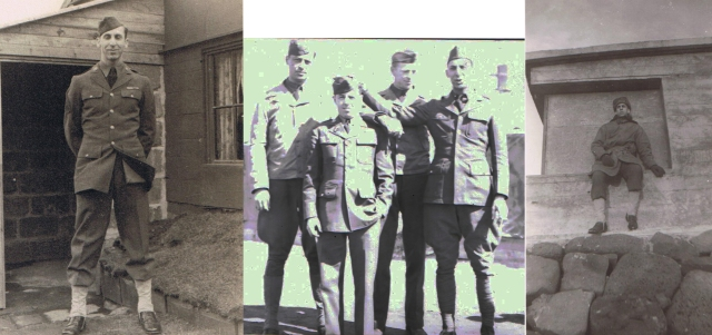 Dad in NY, I think, comrades in arms and Dad - possibly in Iceland