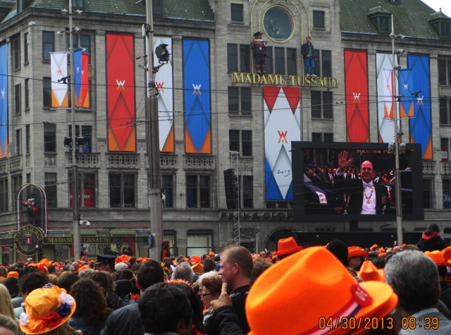 Dam Square Amsterdam  Queen's/King's Day 2013