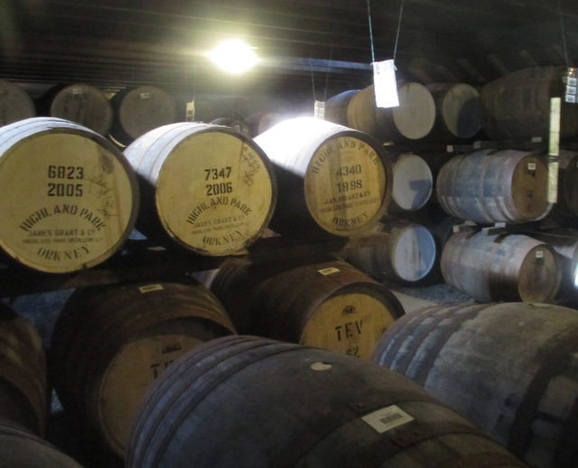a fraction of the product slumbering in oak casks