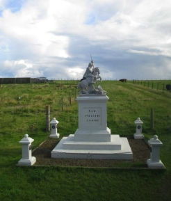 St George monument near entrance