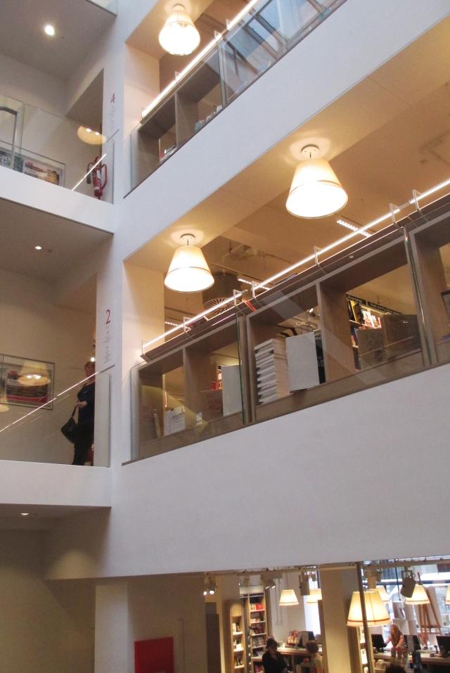 Atrium at Foyles new bookshop