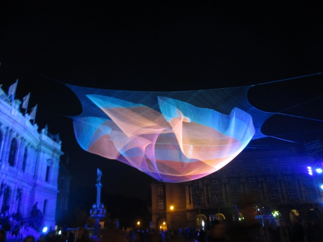 Rudolfinum blanket at Prague Signalfest 2015