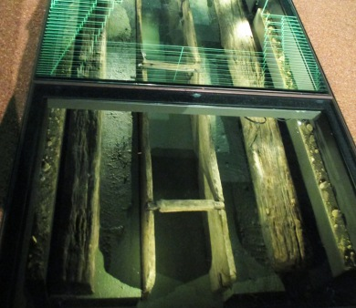 foundation beams with computer reflection