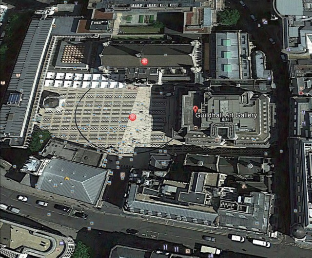Amphitheatre footprint - aerial view Google Earth